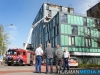 Jumbo Groningen ontruimd na brand op dak