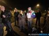 Protestactie bij NAM locatie Leermens
