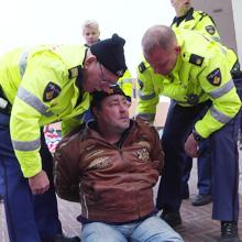 preview nieuwsreportage aanhoudingen bij protestactie winschoten